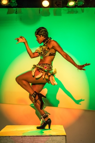 Tymesha Harris performs Josephine Baker, photo by Roberto Gonzalez