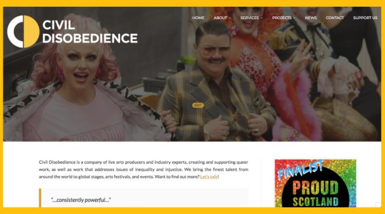 New website edit